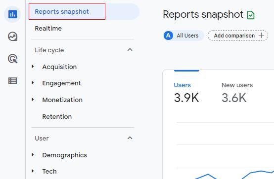 Report snapshot
