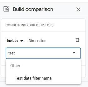 build comparison test ga4