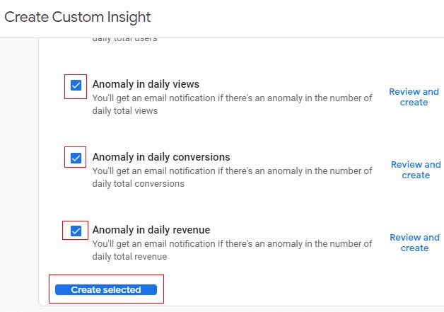 create custom insight google analytics 4