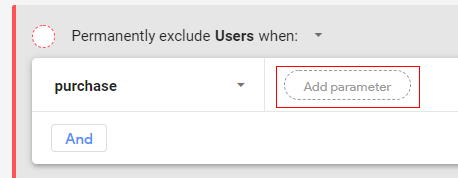 custom audiences exclude config