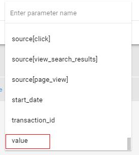 custom audiences parameter list