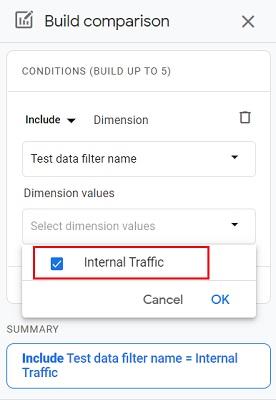 dimension value internal traffic 1