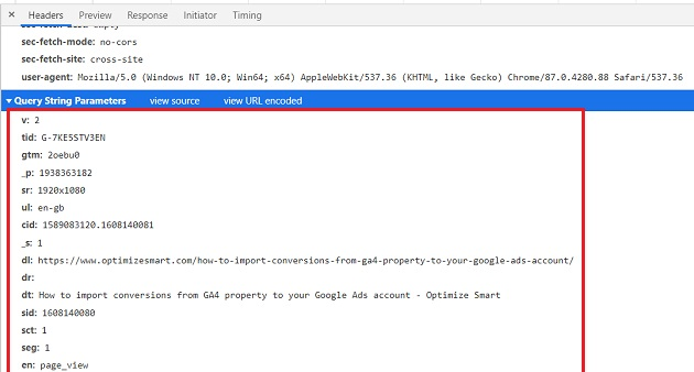 entire measurement protocol request google analytics 4 1