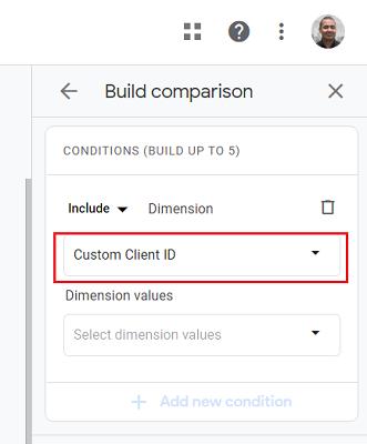 ga4 user properties Custom Client ID dimension