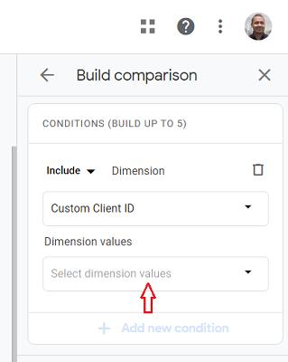ga4 user properties Dimension Values ga4