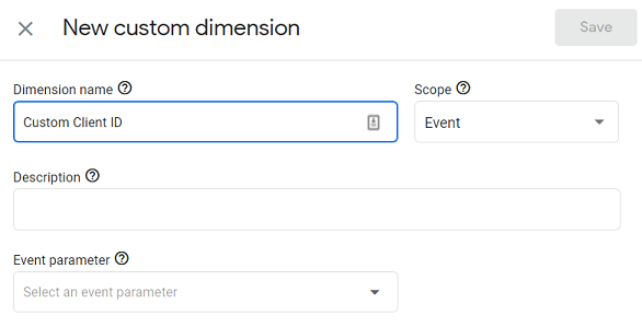 ga4 user properties Enter the name for your custom dimension
