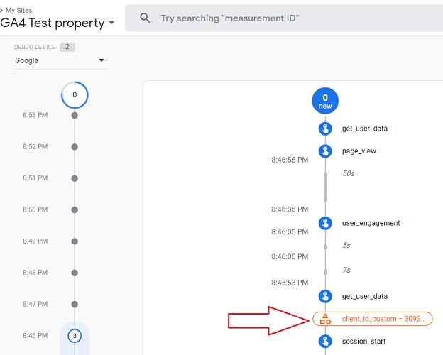 ga4 user properties user property named client id custom