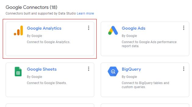 google analytics connector data studio