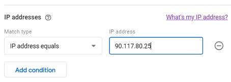 type your ip address