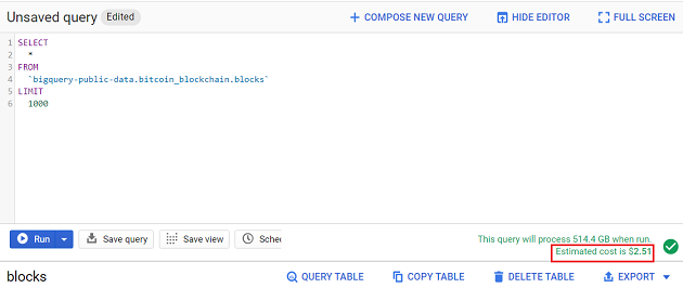 BigQuery Mate is a Google Chrome extension through which you can estimate query cost