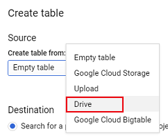 Click on the Drive option