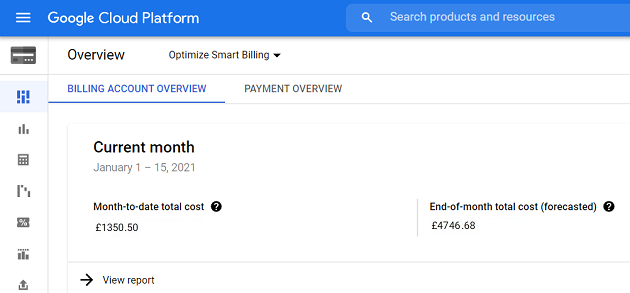 Cost of using BigQuery for Google Analytics