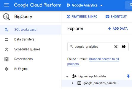 Google Analytics sample dataset for BigQuery