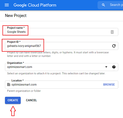 New Project bigquery 2