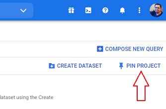 PIN PROJECT bigquery
