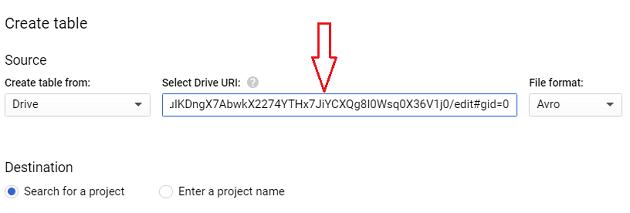 Paste the Google sheet URL