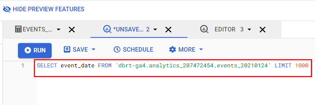 SQL statements ignore line breaks 2