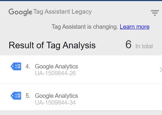 Tag Assistant GA Property
