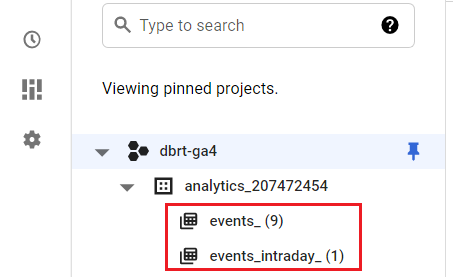 Where you can find Google Analytics 4 data in BigQuery