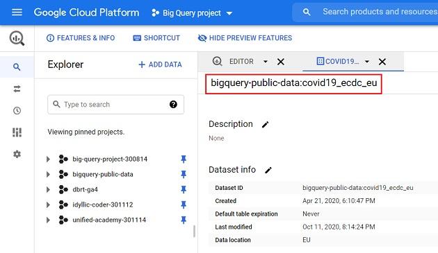 bigquery public data covid19 ecdc eu dataset