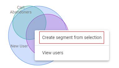 create segment from overlap