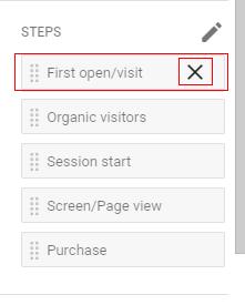 delete funnel steps