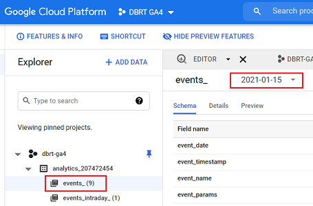 events_ & events_intraday_ tables in BigQuery for GA4 (Google Analytics 4)  - Optimize Smart