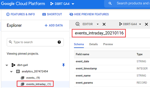 events intraday data table bigquery 1