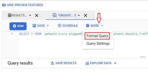 format query bigquery 1