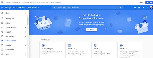 get started with google cloud platform