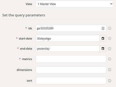 google analytics api without coding