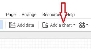 google data studio add a chart button 1