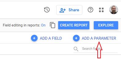 google data studio add a parameter google data studio