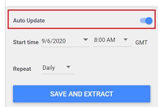 google data studio auto update