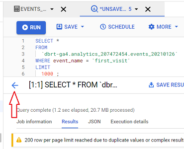 query Google Analytics data in BigQuery
