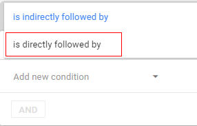 options for following step