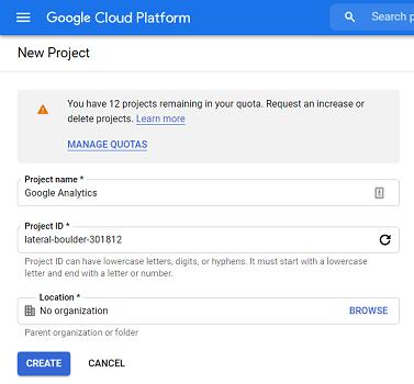 project id google big query