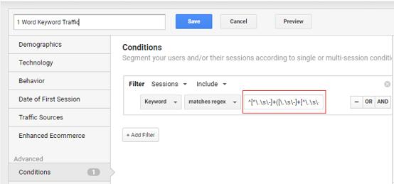 regex for google analytics