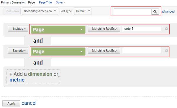 regex guide advance filter