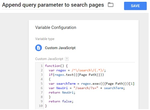regex guide append query parameter to search pages