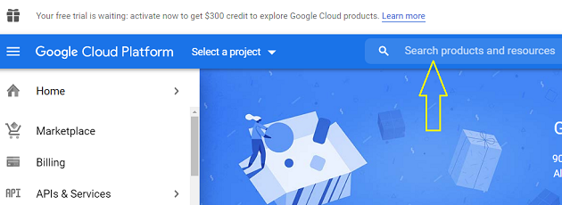 search products and resources google cloud platform