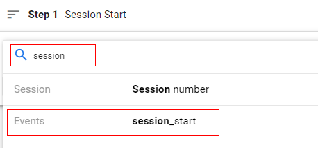 session start step 1