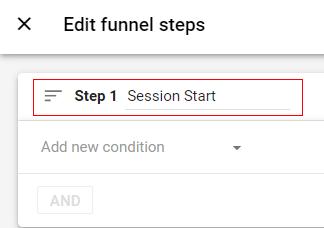 session start step