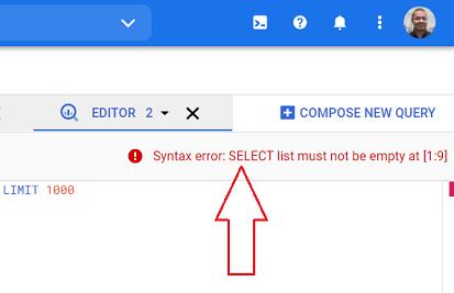 syntax error bigquery