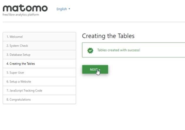 table created