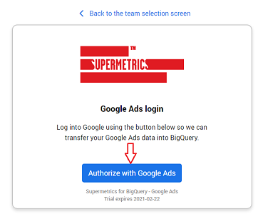 Authorize with Google Ads