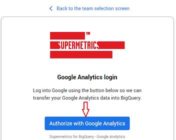 Authorize with Google Analytics 1