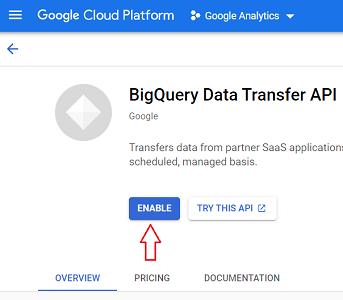 BigQuery Data Transfer API