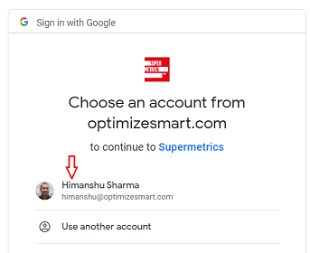 Click on the name of the Google account 1