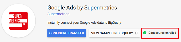 Data Source enrolled